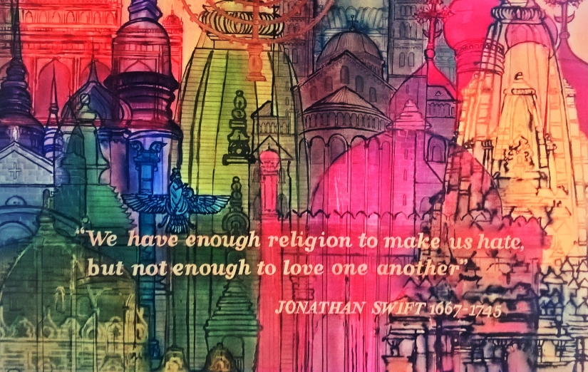 Do we not have enough religion to love each other?
